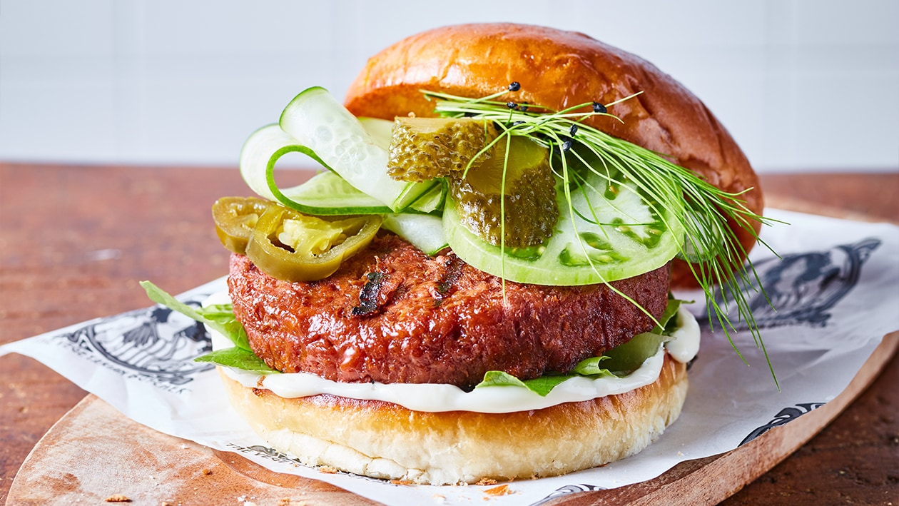 The Vegetarian Butcher grilled Premium Burger