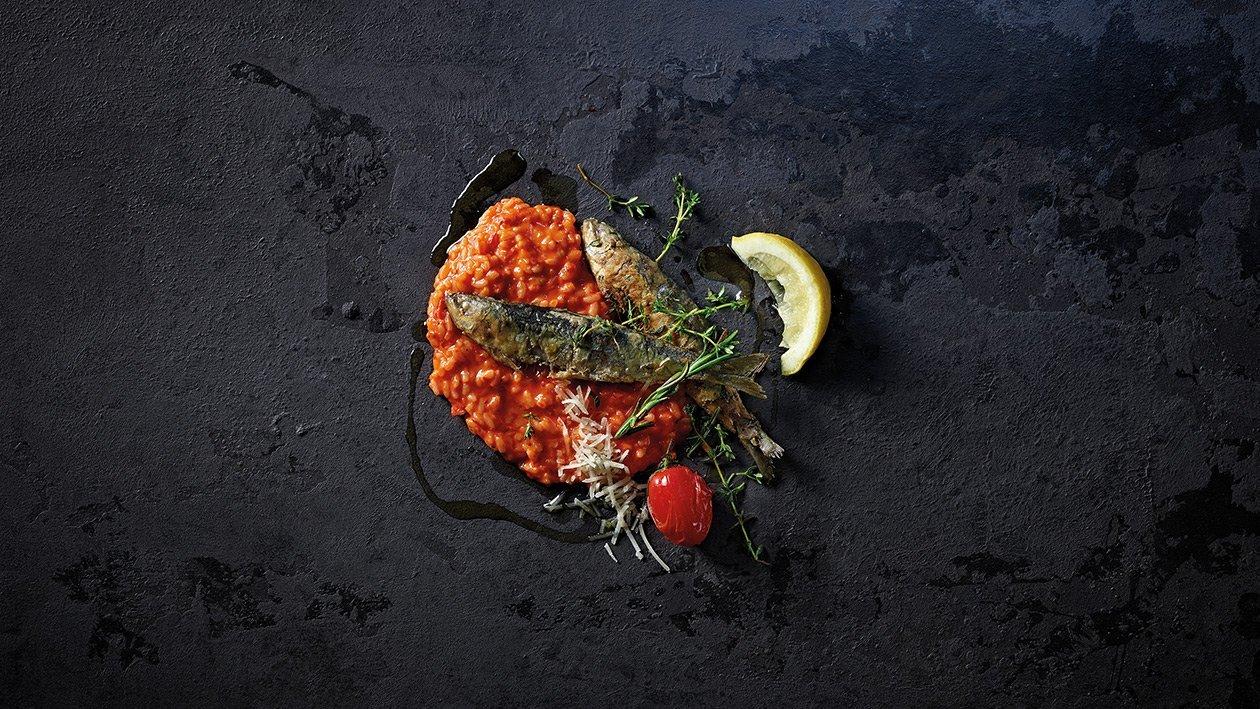 Risotto con peperoni e sardine