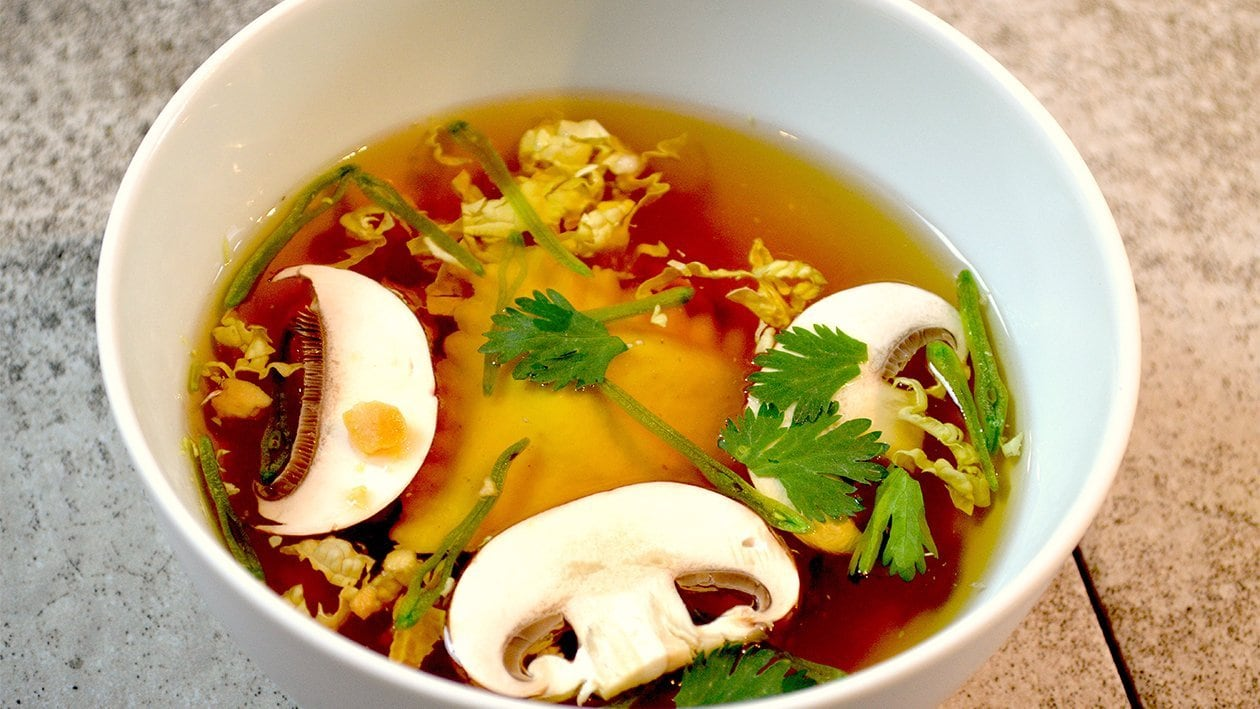 Beef Tea mit grünem Curry