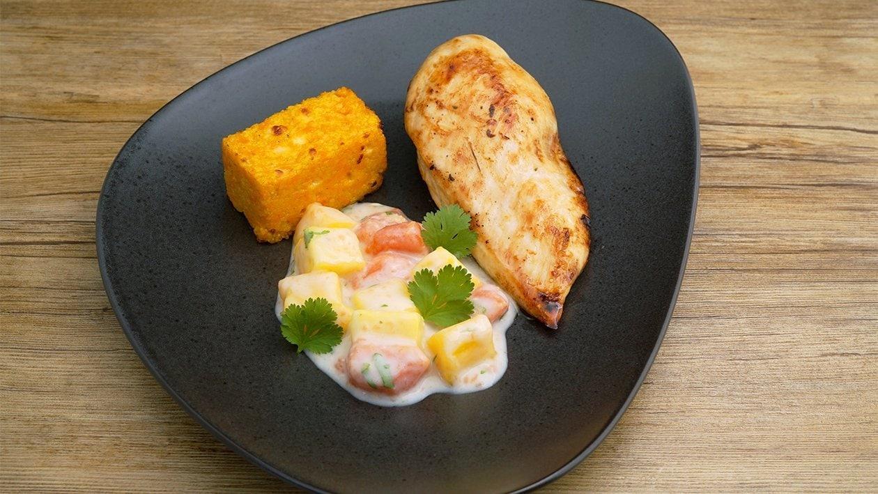 Hellmann´s Hähnchen mit Karotten Couscous und Curry Früchten