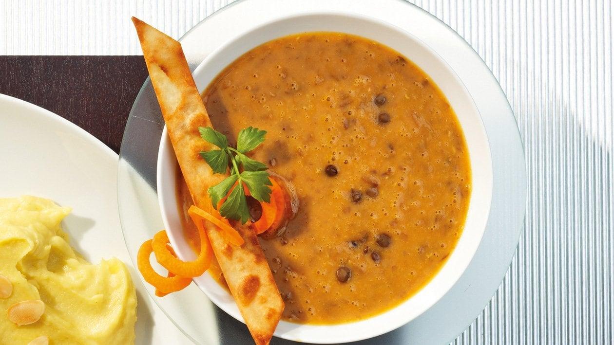 Afrikanische Curry-Linsensuppe