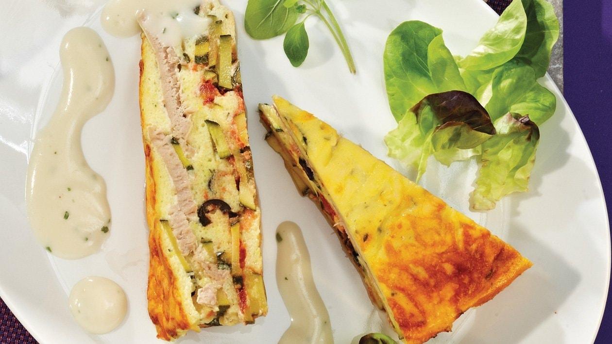 Provenzalischer Zucchini-Thunfisch-Auflauf mit Käsecreme