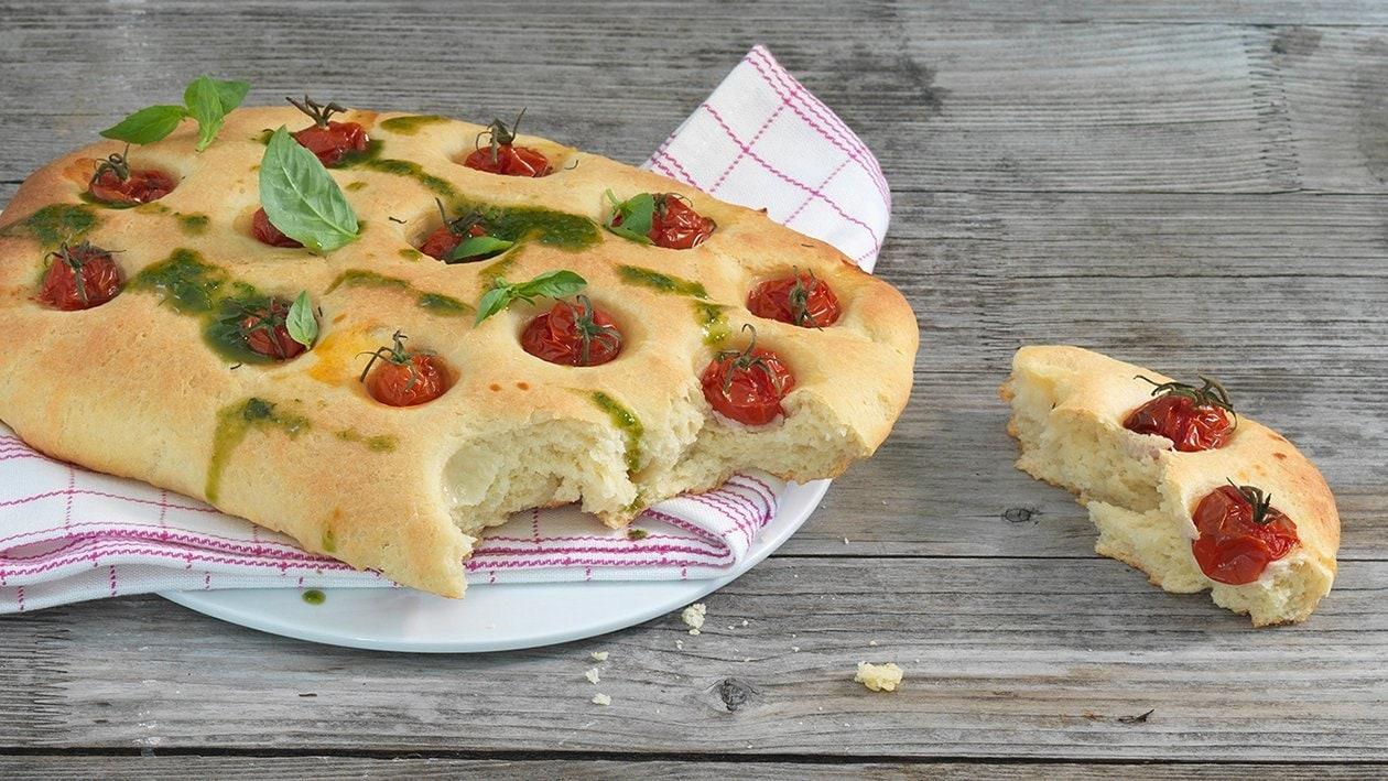 Kartoffel-Focaccia mit Cherry Tomaten