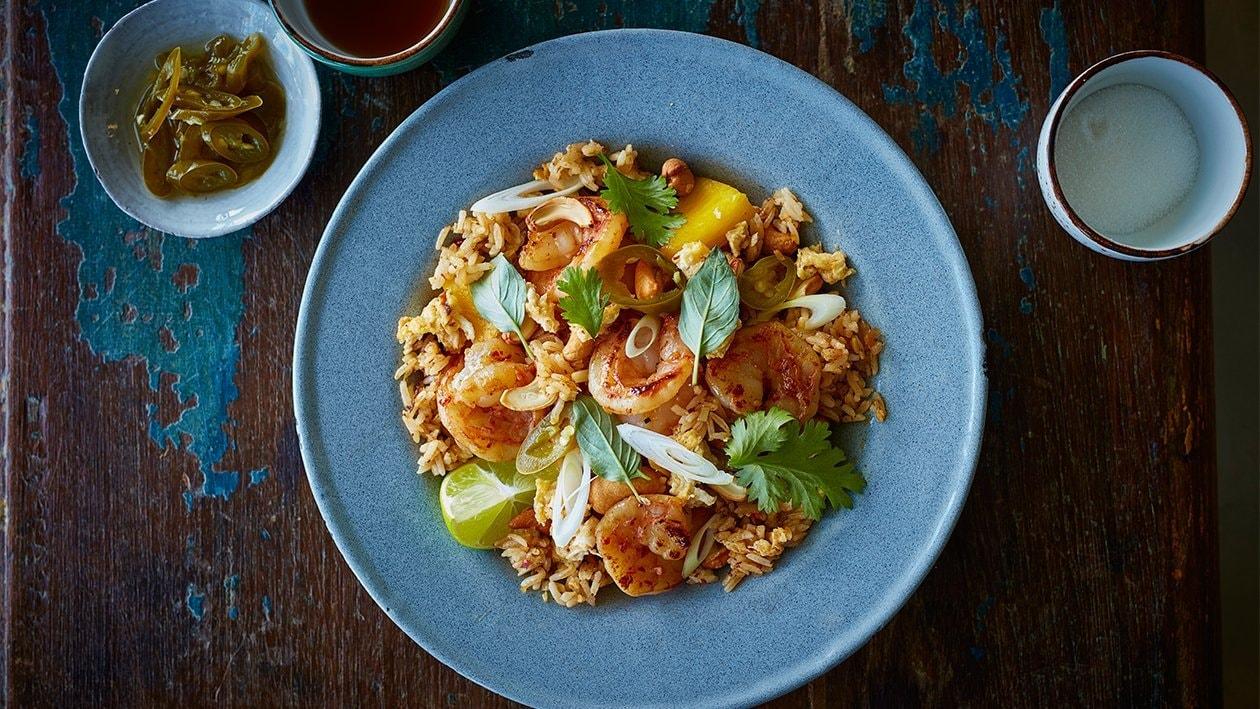 Gebratener Reis mit Ananas