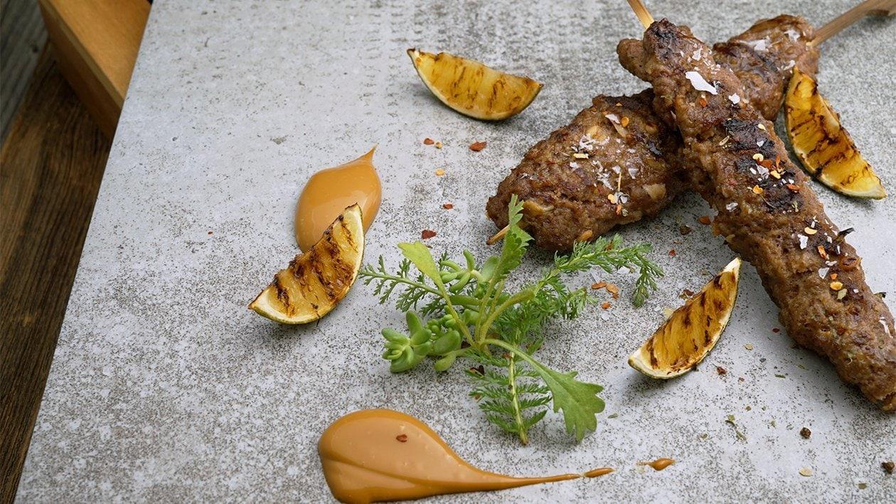 Rindfleisch - Kokos Sate Speiße mit Curry - Limetten Mayo