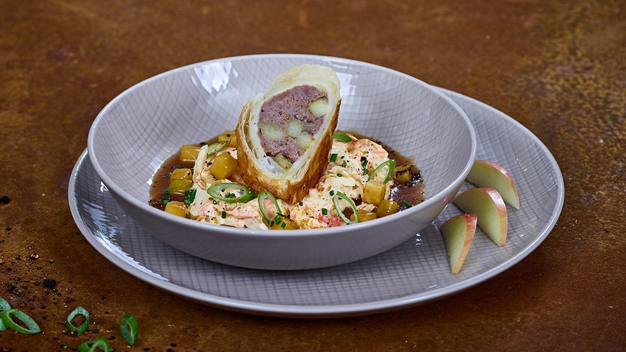 Sausage Roll mit Coleslaw