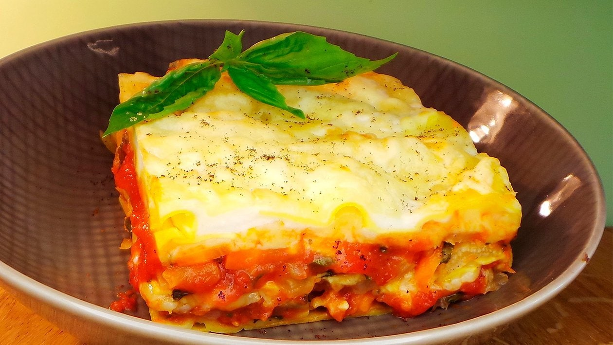 Mangold - Kohlrabi - Karotten - Lasagne