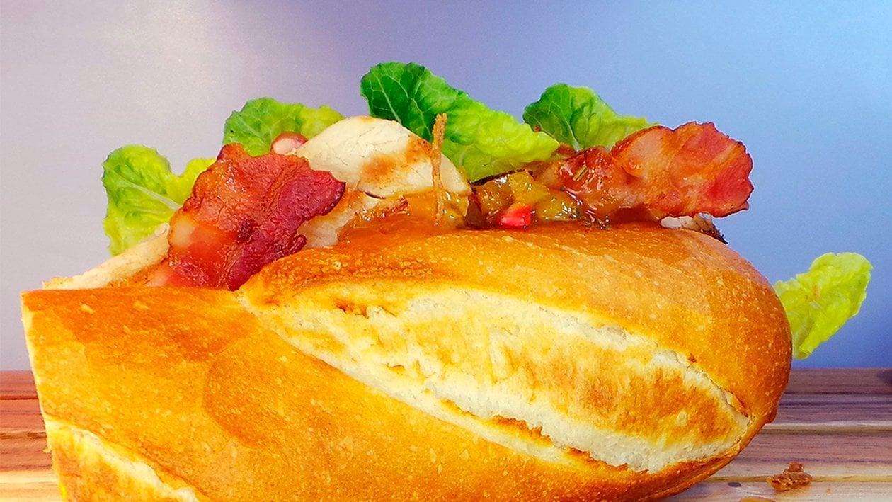 Truthahn Wrap mit gepickelten Zucchini