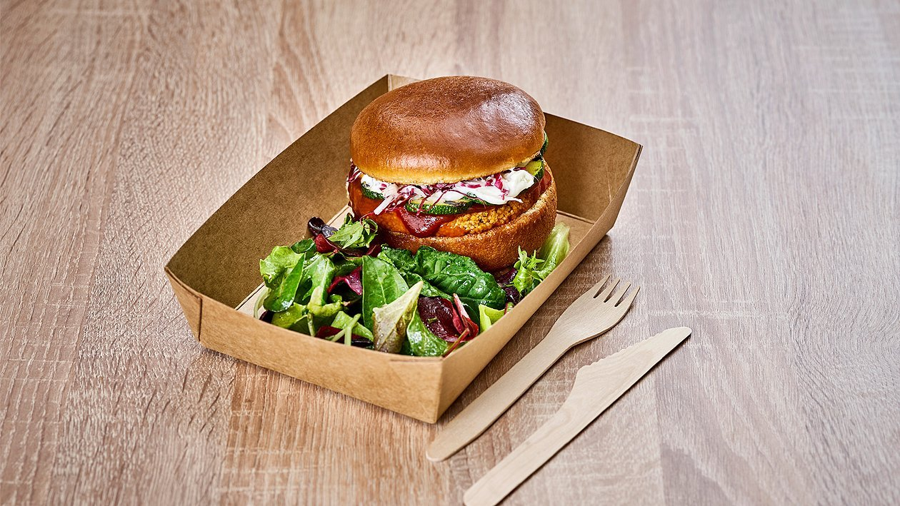 Süßkartoffel-Zucchini-Taboulé-Burger