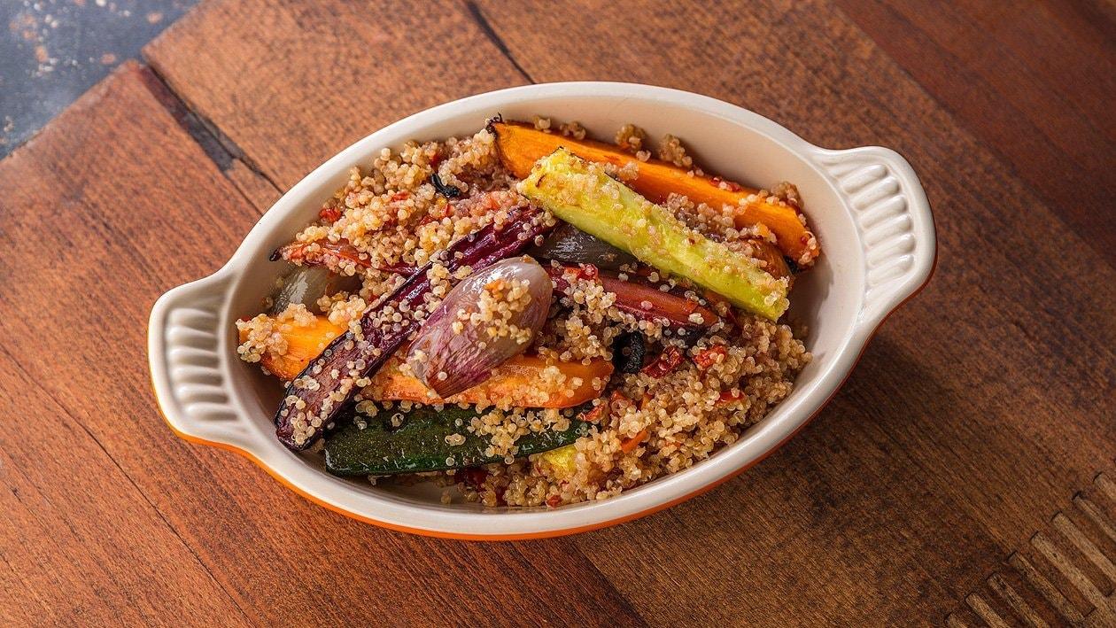 Quinoa mit glasierten Grillgemüse