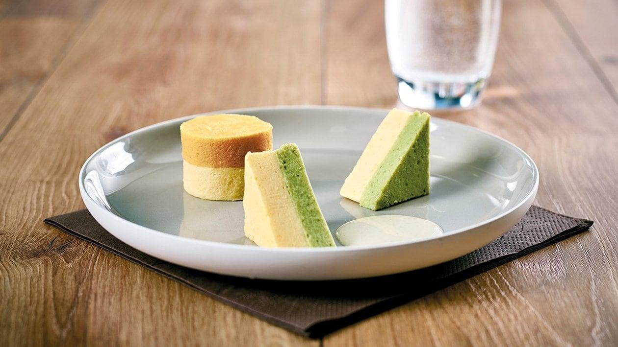 Kartoffel - Kürbis Auflauf mit Specksauce Fingerfood