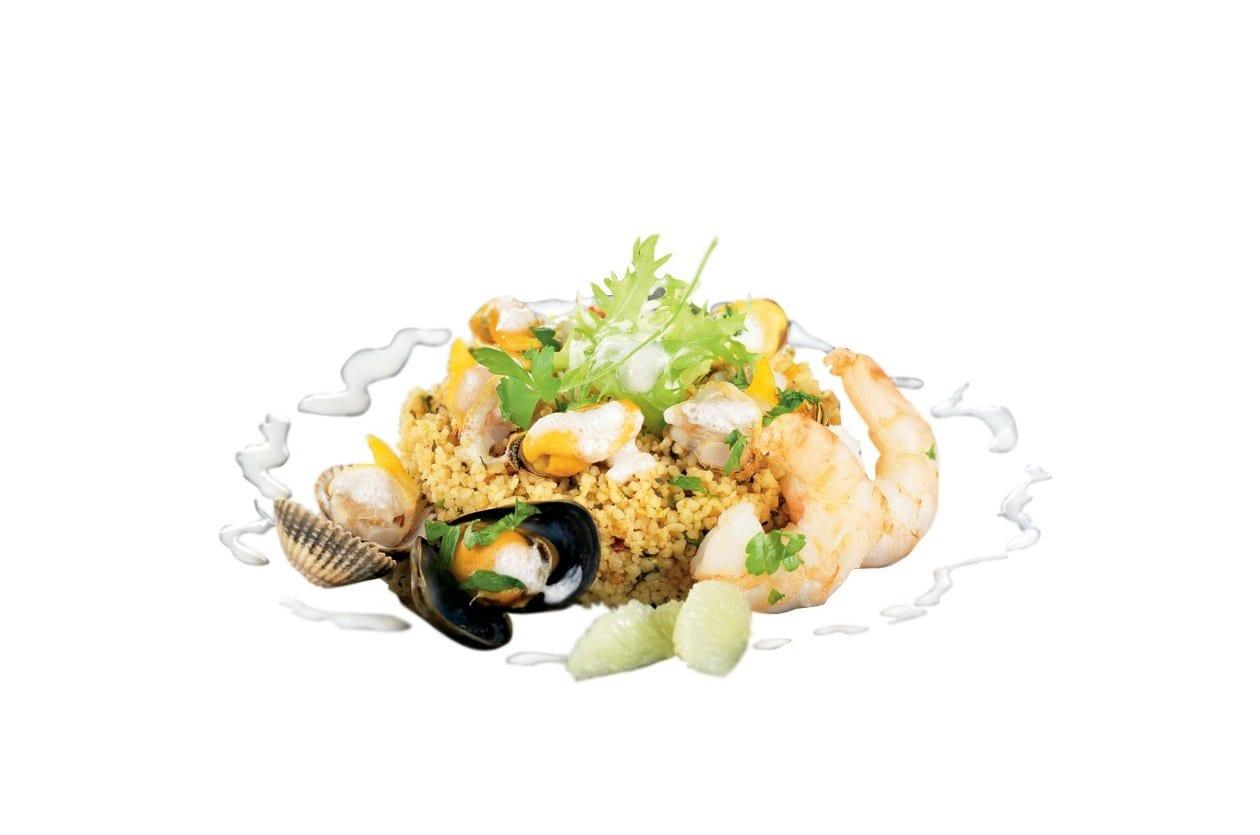 Couscous-Salat mit Meeresfrüchten