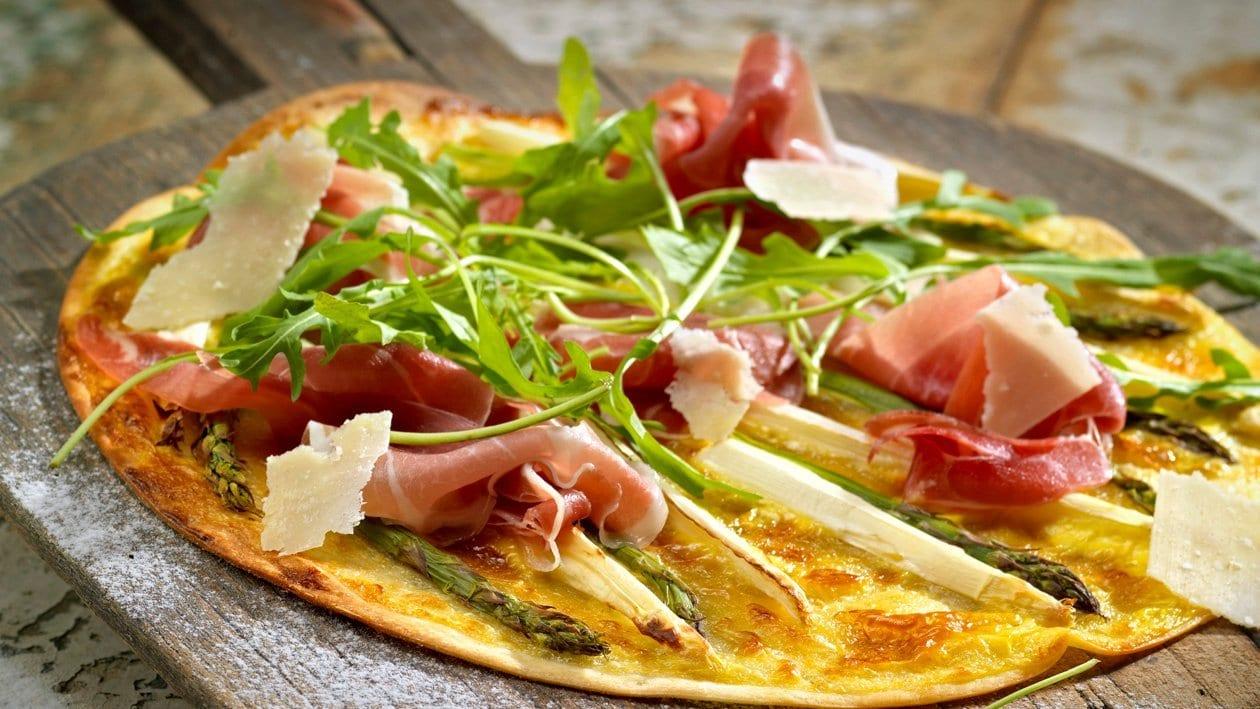 Pizza mit Hollandaise