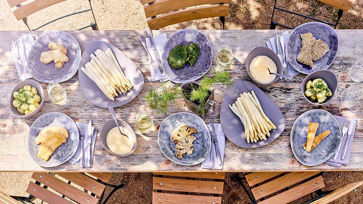 Schnitzel mit einer Quinoapanade